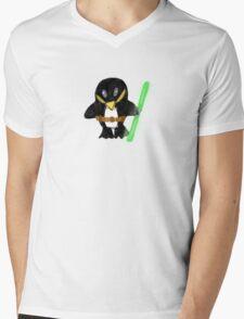 Jedi Penguin Mens V-Neck T-Shirt