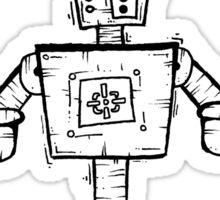 ESKLAMOTION the robot - white BG Sticker