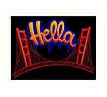 Hella - SF [Blue] Art Print