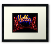 Hella - SF [Blue] Framed Print