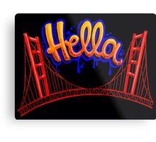 Hella - SF [Blue] Metal Print