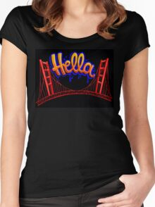 Hella - SF [Blue] Women's Fitted Scoop T-Shirt