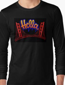 Hella - SF [Blue] Long Sleeve T-Shirt