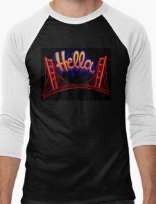 Hella - SF [Blue] Men's Baseball ¾ T-Shirt