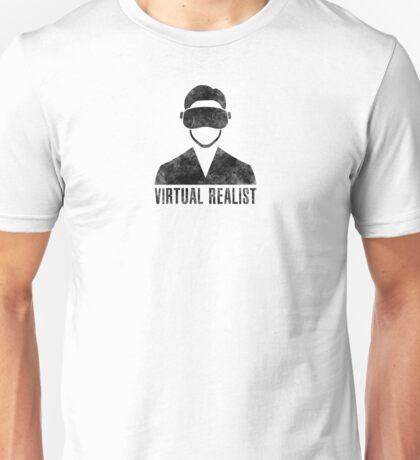 Virtual Realist - Black Dirty Unisex T-Shirt