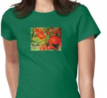 YELLOW AND REDS IN BLOOM  Womens Fitted T-Shirt