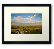 Helicopter View Framed Print