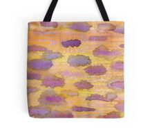 Clouds in Plum & Yellow Tote Bag