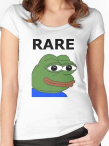 Ultra RARE pepe Women's Fitted Scoop T-Shirt