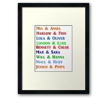 Christina Lauren Couples Framed Print