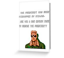 Retro saving mission Greeting Card