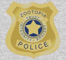 ZPD Zootopia Badge One Piece - Short Sleeve