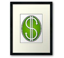Dollar Signs Framed Print