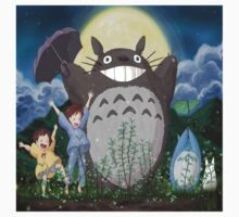 totoro umbrella Kids Tee
