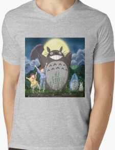 totoro umbrella Mens V-Neck T-Shirt