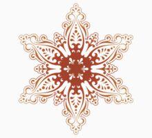 Beige Snowflake One Piece - Short Sleeve