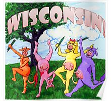Colorful Wisconsin Cows Poster