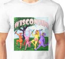 Colorful Wisconsin Cows Unisex T-Shirt