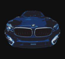 BMW illustration blue Kids Tee
