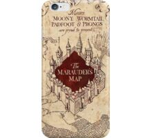 the marauders map77 iPhone Case/Skin