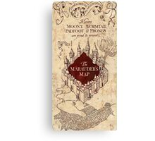 the marauders map77 Canvas Print