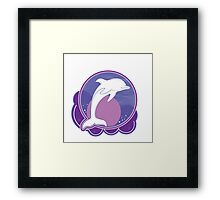 Dolphin Moonlight Magenta Framed Print