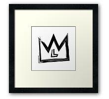 L Crown Framed Print