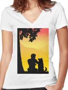 Childhood dreams, Best Friends Women's Fitted V-Neck T-Shirt