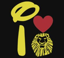 I Heart The Lion King (Gold) Kids Tee