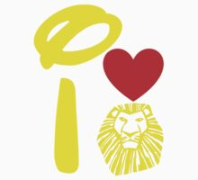 I Heart The Lion King (Gold) One Piece - Short Sleeve