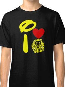 I Heart The Lion King (Gold) Classic T-Shirt