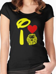 I Heart The Lion King (Gold) Women's Fitted Scoop T-Shirt