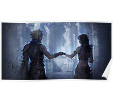 Tifa and Cloud Final Fantasy VII Poster