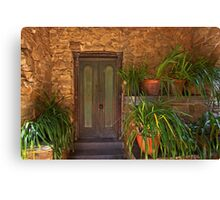 Green door - Montsalvat Canvas Print