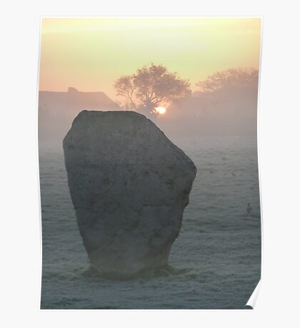Avebury Winter Sunrise (01) Poster