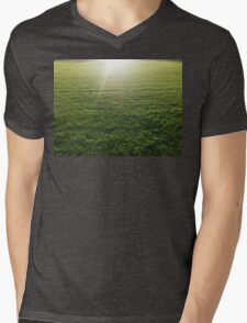 A sunny afternoon on an empty oval Mens V-Neck T-Shirt