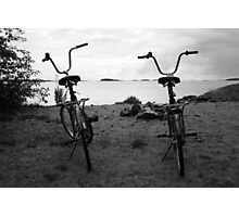 Two Bicycles - Hanko, Finland Photographic Print