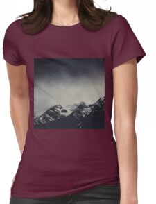 Misty Dark Mountains Womens Fitted T-Shirt