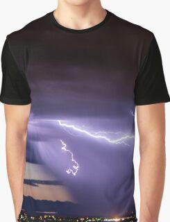 Blue Lightning Graphic T-Shirt
