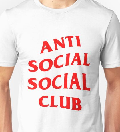 Red Anti Social Club Unisex T-Shirt