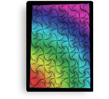 Rainbow swirls Canvas Print