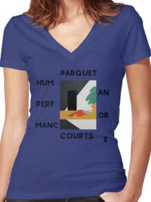 Parquet courts Women's Fitted V-Neck T-Shirt