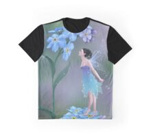 Forget-Me-Not Flower Fairy Graphic T-Shirt