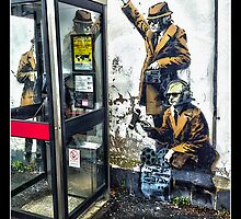 Government listening post by Banksy! by Tim Constable