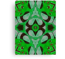 Florescent Green Abstract Kaleidoscope Pattern  Canvas Print