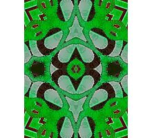 Florescent Green Abstract Kaleidoscope Pattern  Photographic Print