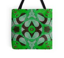Florescent Green Abstract Kaleidoscope Pattern  Tote Bag