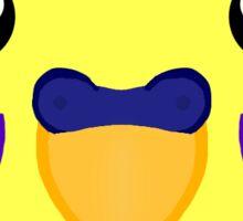 Yellow Budgie Heart  Sticker