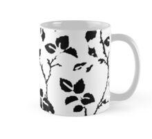 stylised unrefined flowers with coloured background Mug