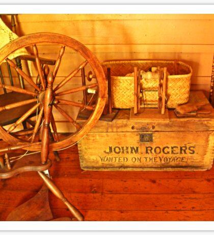 Pioneer Parlour - Many A Yarn Spun Here Sticker